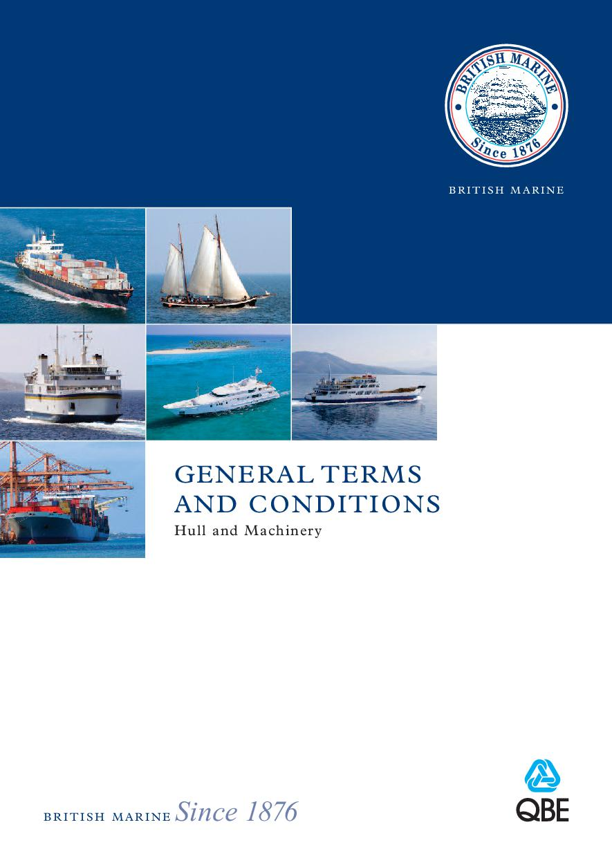 Hull and Machinery Terms & Conditions 2016
